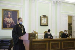 Митрополит Вадим представил ректора семинарии профессорско-преподавательской корпорации духовной школы